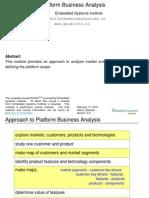 Module Platform Business Analysis Slides by Gerrit Muller