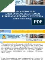 Slides Artigos 2012