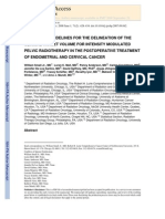 consensus Guidelines for Delineation of Clinical Target Volume for Intensity-modulated Pelvic Radiotherapy in Postoperative Treatment of Endometrial and Cervical Cancer