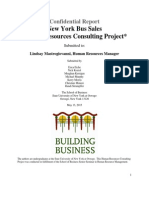New York Bus Sales - HRM 464 (Consulting Project)