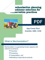 Farm Mechanization Planning and Machinery Selection for Conservation Practices