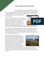 Funcionamiento de La Extracción de Energía Geotérmica