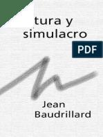 Baudrillard Jean Cultura y Simulacro