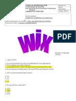 Cuestionario WIX