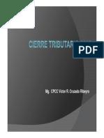 Cierre Tributario 2012