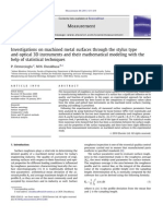 Investigations on Machined Metal Surfaces Through the Stylus Type and Optical 3D Instruments and Their Mathematical Modeling With the Help of Statistical Techniques Measurement 2011