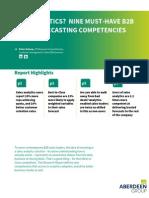 Sales Forecasting Capabilities