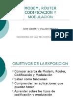 Modem, Router Codificacion