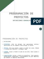 PROGRAMACIÓN DE OBRAS