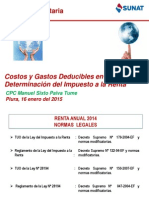 17 01 2015 Costos y Gastos Deducibles Del Impuesto a La Renta