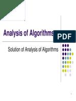 Analysis of Algorithm I