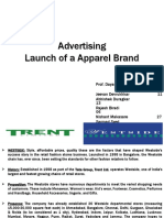 Advertising - Launch of Apparel Brand