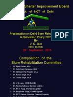 Rehablitation Slum Policy 2015 Presentation