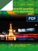 Statistik Daerah Kota Yogyakarta 2013