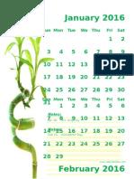 2016 Monthly Calendar Portrait 11