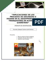 Implicaciones de la seguridad e higiene industrial en el desempeño