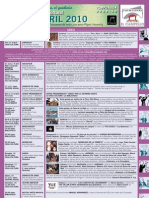Programación Abril 2010