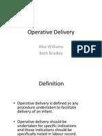 Operative Delivery Alex Williams Beth Bradley October 2013