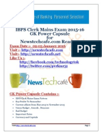 GENERAL SCIENCE CAPSULE 2015 FOR SSC CGL/LDC & other