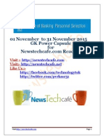 Www.newstechcafe.com November 2015 GK Capsule Download