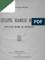 Constantin Radulescu Motru Sufletul Neamului Nostru Calitati Bune Si Defecte 1910