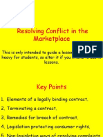 copy of summary of resolving conflict in the marketplace