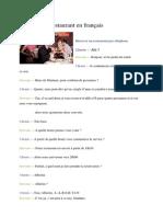 Réserver Un Restaurant en Français