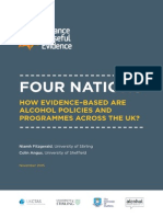 Four Nations - How Evidence-based Are Alcohol Policies and Programmes Across the UK