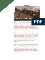 Alamo Myths