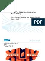 Super Bowl XLV Airport Board Briefing 04-01-10