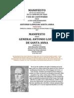 Antonio Lopez de Santa Anna's Manifesto 1837