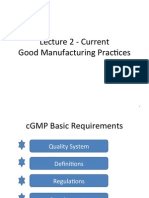 Lecture 2 - Current Good Manufacturing Practices