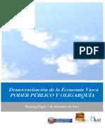 Democratización de la Economia Vasca. PODER PUBLICO Y OLIGARQUIA