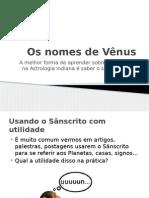 Os Nomes de Vênus na astrologia indiana