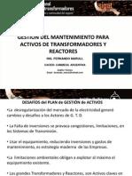 Gestiòn Del Mantenimiento Para Activos Transformadores y Reactores