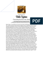 The Account of Felix Nuñez concerning the fall of the Alamo
