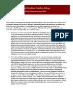 Open Letter to President Tom Ross, Davidson College