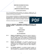 Reglamento Organico Operativo y de Regimen Interno y Disciplina Bomberos