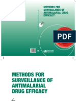 Who, Methods for Surveillance of Antimalarial Drug Efficacy