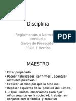 disciplinareg  expectativasrutina y movimino