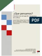 Que Estamos do Colombia Inicio de Siglo XXI, Perspectivas Del Conflicto