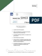 Ensayo1 Simce Matematica 2basico 2015