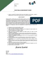 Ejercicio Final de Microsoft Word