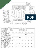 Calendario Infantil 2016 Colorear