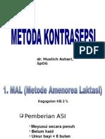 Metoda Kontrasepsi Dr. h. Muslich Ashari, Sp.og
