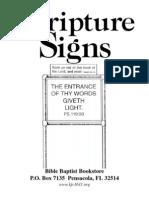 Flyer Scripture Signs