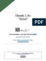 """Tikiwiki 1.9 + """"Sirius"""" Documentation and User Manual"""