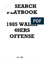 1985 San Francisco 49ers Offense - Bill Walsh