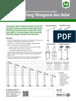 Katalog Tiang PJUTS Parabolic