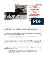 Catálogo Libros de Toros 2012